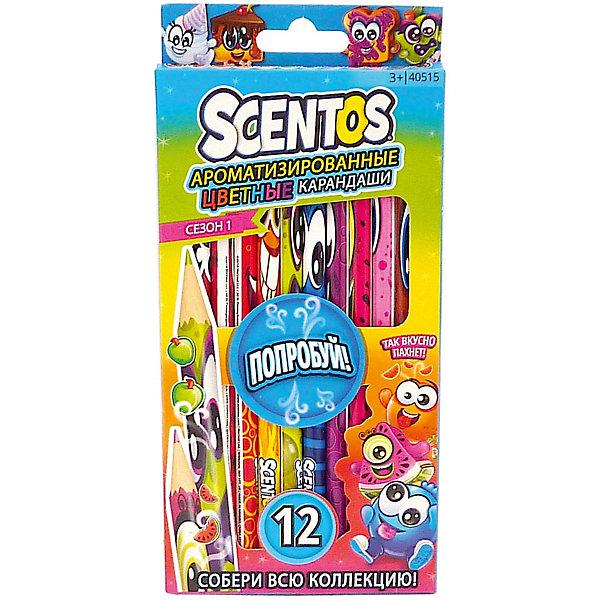 WeVeel Ароматизированные цветные карандаши WeVeel Scentos, 12 цветов карандаши цветные be be 12 цветов с точилкой 466500