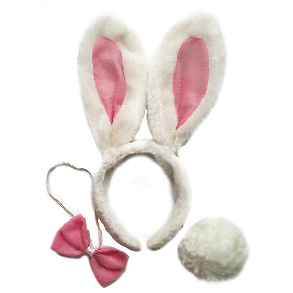 Феникс-Презент Маскарадный набор Феникс-Презент Крольчонок (галстук, ободок, хвостик) костюм беленького зайчика 26