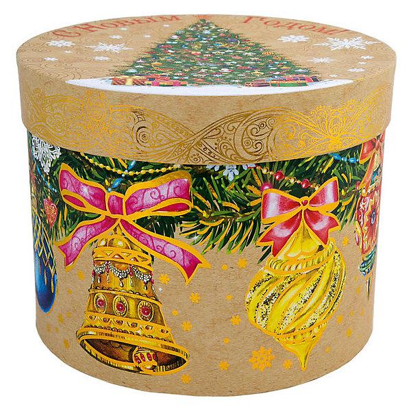 Феникс-Презент Подарочная коробка Феникс-Презент Ёлка с колокольчиками коробка подарочная бабочки 14 14 8 5см картон хансибэг