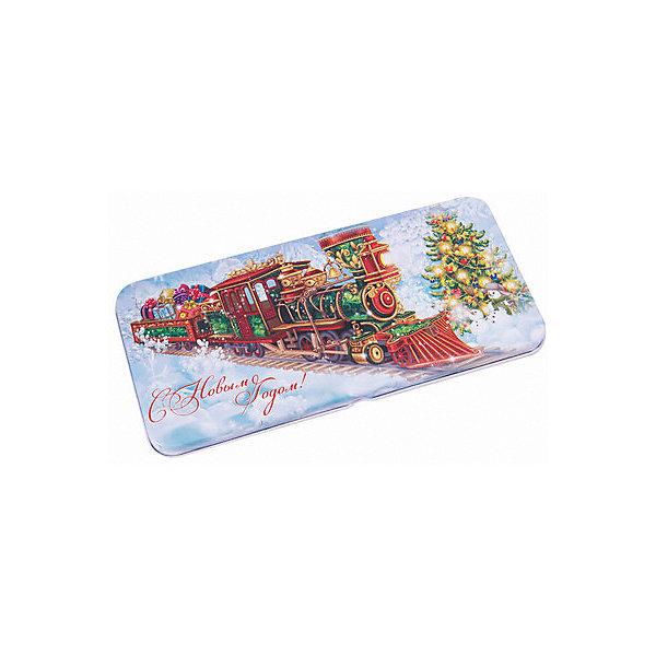 Феникс-Презент Конверт для денег Феникс-Презент Новогодний поезд подарочная коробочка для денег конверт для денег сердечки 43685
