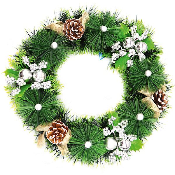 Волшебная Страна Новогодний венок Magic Land 30 см заготовка из пенопласта сердце венок 25 24см толщина 2см