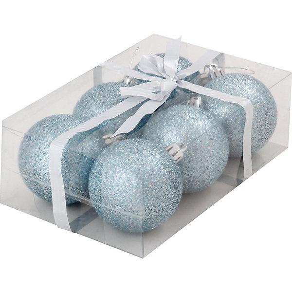 Волшебная Страна Набор елочных шаров Magic Land голубой, 6 штук волшебная страна набор елочных шаров magic land 6 шт 6 см розовые