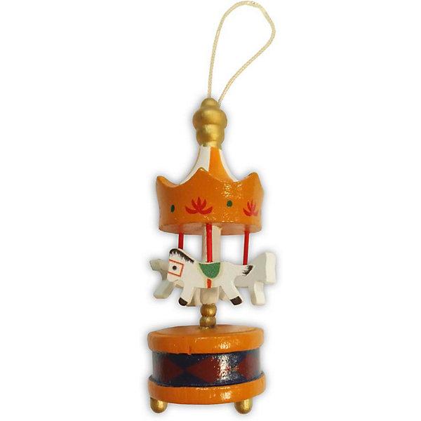 B&H Украшение на ёлку Карусель 9 см, оранжевая