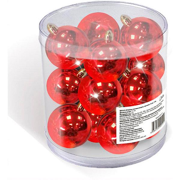 цена на B&H Набор елочных шаров B&H 12 шт, 3 см., красные