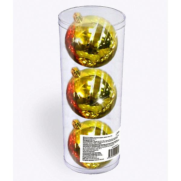 B&H Набор елочных шаров B&H 3 шт, 9 см., золотые пепельница s quire 10 3 10 3 4 9 см золото
