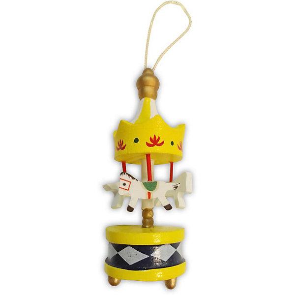 B&H Украшение на ёлку Карусель 9 см, жёлтая