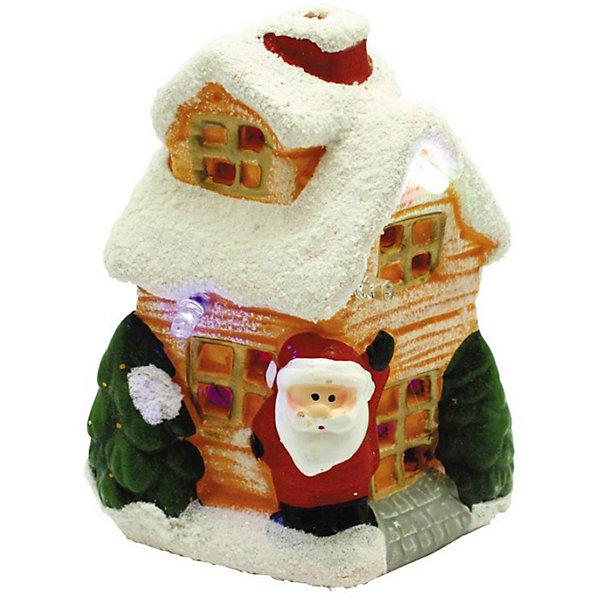 GLOS Новогодний керамический домик Свет волшебства