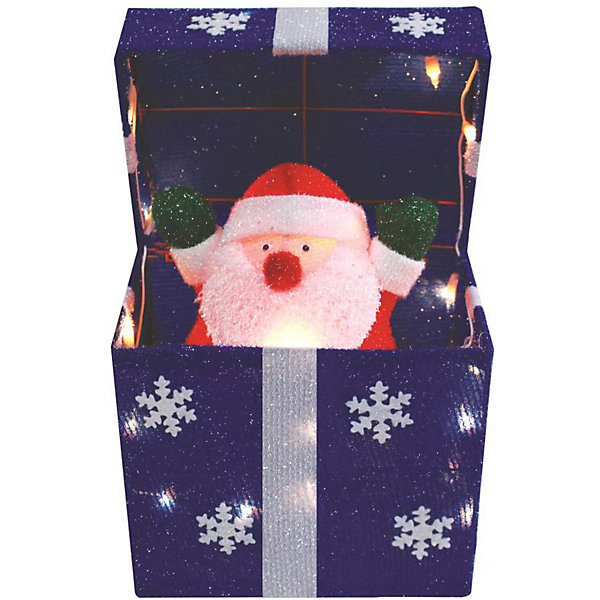 Купить Двигающаяся фигура под ёлку B&H «Подарок с Дедом Морозом», Китай, разноцветный, Унисекс