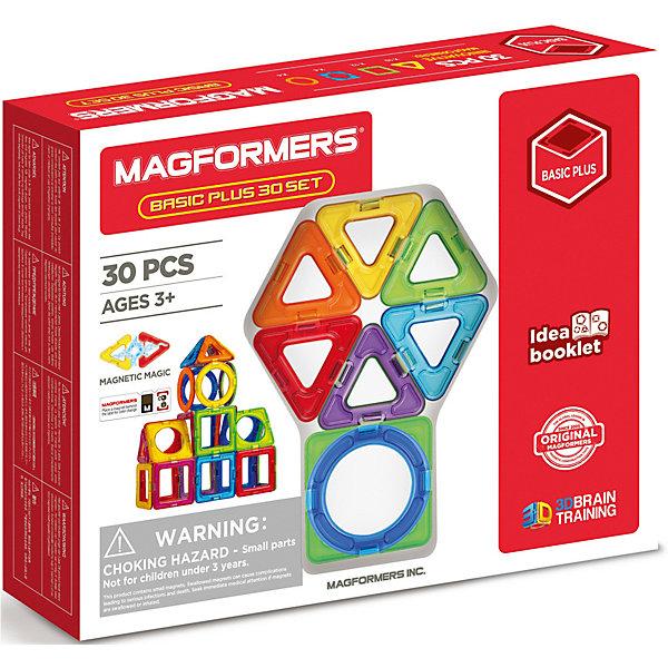 Купить Магнитный конструктор MAGFORMERS Basic Plus 30 set, Китай, Унисекс