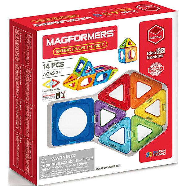 Купить Магнитный конструктор MAGFORMERS Basic Plus 14 set, Китай, Унисекс