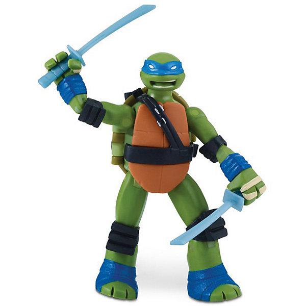 Купить Фигурка Playmates Черепашки-ниндзя Лео с боевым панцирем, 12 см, Китай, синий/зеленый, Мужской
