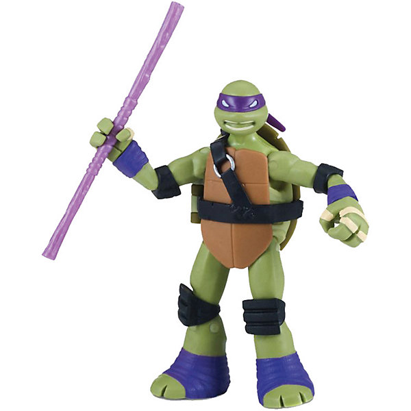 PLAYMATES Фигурка Playmates Черепашки-ниндзя Донни с боевым панцирем, 12 см фигурка ninja turtles черепашки ниндзя 12 см в ассортименте
