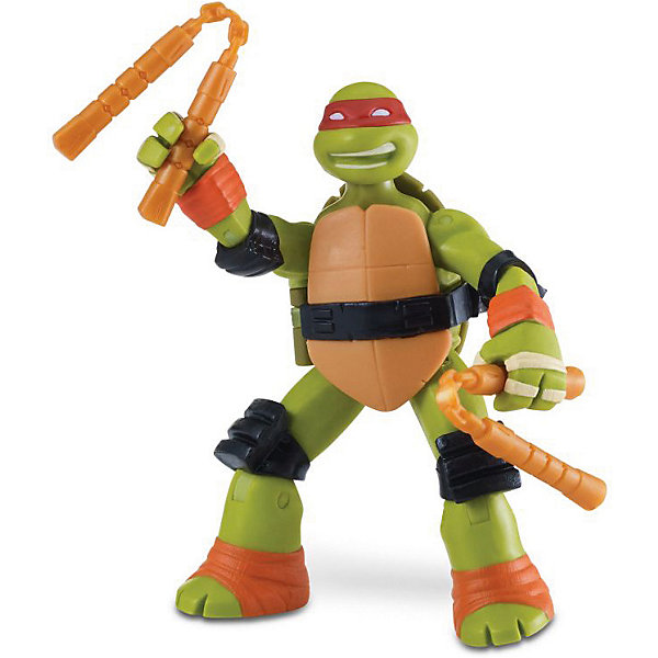 PLAYMATES Фигурка Playmates Черепашки-ниндзя Майки с боевым панцирем, 12 см фигурка ninja turtles черепашки ниндзя 12 см в ассортименте