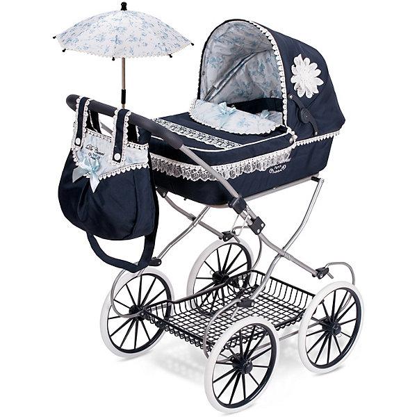 DeCuevas Коляска для кукол DeCuevas Романтик с сумкой и зонтиком, 81 см коляска для кукол bambolina boutique с поворотными колесами в комплекте с куклой и набором аксессуаров