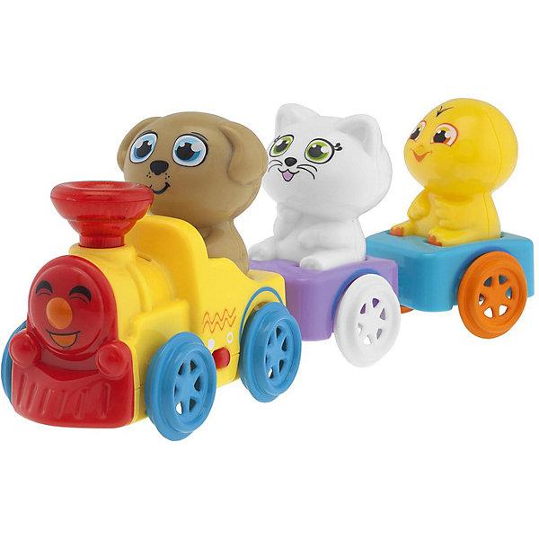 CHICCO Музыкальный поезд Chicco с животными eichhorn поезд с 2 вагонами и животными