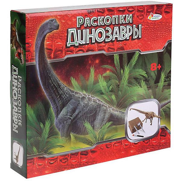 Играем вместе Набор археолога Играем вместе Раскопки динозавров Брахиозавр, светится в темноте читаем и играем брахиозавр