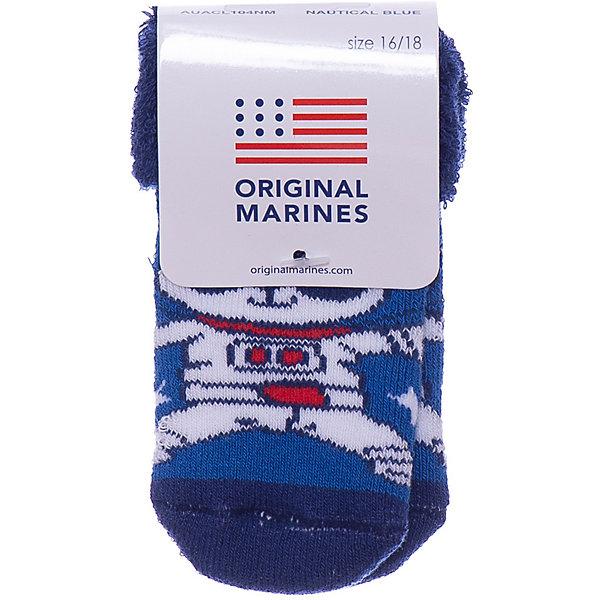 Носки Original Marines для мальчикаНоски<br>Характеристики:<br><br>• состав ткани: 75% хлопок, 22% полиамид, 3% другие материалы<br>• сезон: круглый год<br>• эластичная резинка<br>• декорированы принтом<br>• страна бренда: Италия<br><br>Махровые носочки очень мягкие и приятные на ощупь, материал хорошо тянется, а резинка не давит. Украшены ярким принтом.