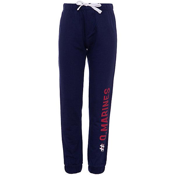 Спортивные брюки Original Marines для мальчикаБрюки<br>Характеристики товара:<br><br>• цвет: тёмно-синий;<br>• состав: 100% хлопок;<br>• сезон: демисезон;<br>• застёжка: брюки на резинке, шнурок-завязка;<br>• спортивная модель;<br>• манжеты брючин на мягкой эластичной резинке;<br>• мягкая эластичная резинка на талии;<br>• карманы;<br>• декорированы надписью;<br>• страна бренда: Италия.<br><br>Спортивные брюки сделаны из дышащего материала. Дополнены карманами. Брюки на мягкой эластичной резинке. Обхват талии можно регулировать при помощи шнурка-завязки на талии. Декорированы шрифтовым принтом. Брюки обеспечат ребенку комфорт, благодаря продуманному крою. Детские брюки комфортно сидят, не вызывают неудобств.