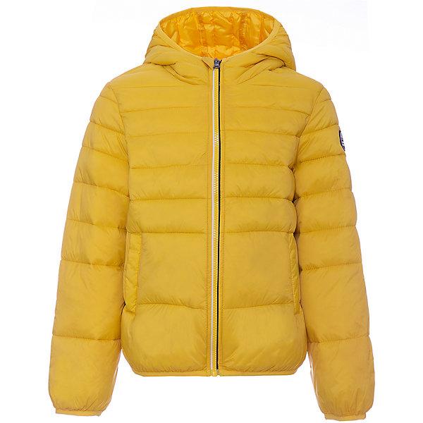 Демисезонная куртка Original MarinesВерхняя одежда<br>Характеристики товара:<br><br>• цвет: жёлтый;<br>• состав: 100% полиамид;<br>• подкладка: 100% полиэстер;<br>• утеплитель: 100% полиэстер;<br>• сезон: демисезон;<br>• температурный режим: от -5 до +10;<br>• застёжка: молния с защитой подбородка;<br>• куртка с капюшоном;<br>• капюшон не отстёгивается;<br>• манжеты рукавов и низ изделия на мягкой эластичной резинке;<br>• эластичный кант на кромке капюшона;<br>• карманы;<br>• страна бренда: Италия.<br><br>Куртка застёгивается на молнию, манжеты рукавов и низ изделия на мягкой эластичной резинке. Мягкий эластичный кант на кромке капюшона. Детская куртка была разработана с учетом потребностей ребенка.