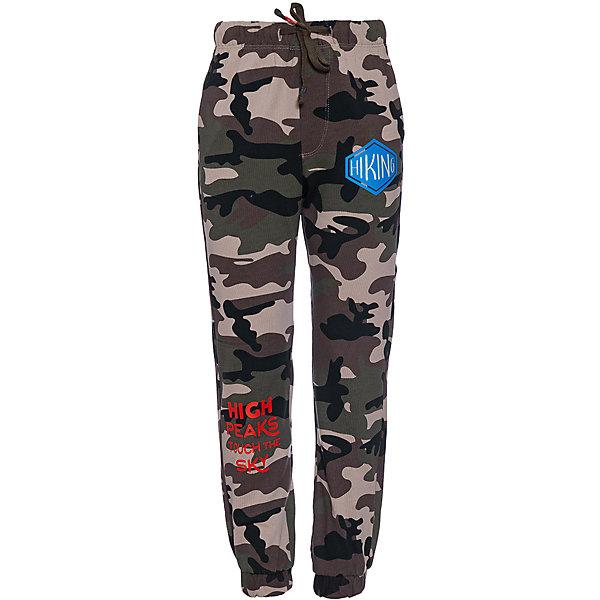 Спортивные брюки Original Marines для мальчикаБрюки<br>Характеристики товара:<br><br>• цвет: хаки;<br>• состав: 100% хлопок;<br>• сезон: демисезон;<br>• застёжка: брюки на резинке, шнурок-завязка;<br>• спортивная модель;<br>• манжеты брючин на мягкой эластичной резинке;<br>• мягкая эластичная резинка на талии;<br>• карманы;<br>• страна бренда: Италия.<br><br>Спортивные брюки сделаны из дышащего материала. Дополнены карманами. Брюки на мягкой эластичной резинке. Обхват талии можно регулировать при помощи шнурка-завязки на талии. Брюки обеспечат ребенку комфорт, благодаря продуманному крою. Детские брюки комфортно сидят, не вызывают неудобств.