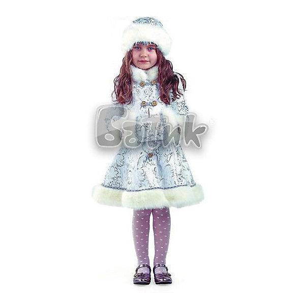 Батик Карнавальный костюм Батик Снегурочка Хрустальная 12storeez шуба укороченная из искусственного меха бежевый