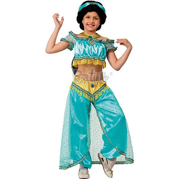 Купить Карнавальный костюм Принцесса Жасмин Дисней, Батик, Россия, 146, 134, 140, Женский
