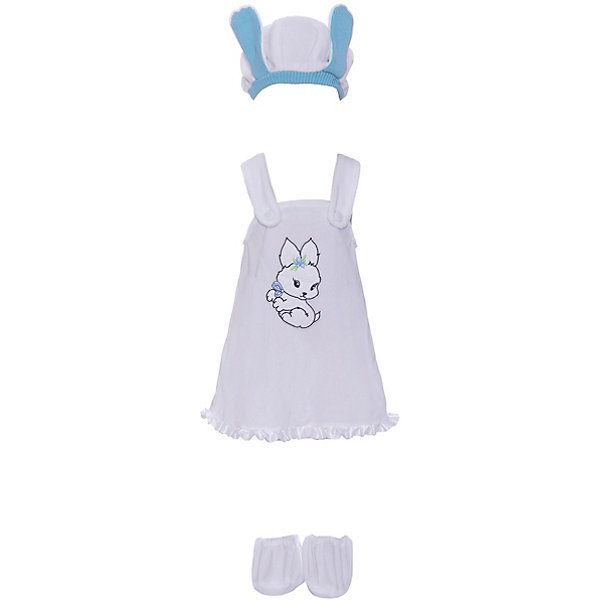 Батик Карнавальный костюм Батик Зайка бело-голубой батик костюм карнавальный для девочки зайка размер 28