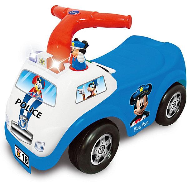 Купить Каталка-пушкар Полицейская машина Микки Мауса Kiddieland, Китай, синий/белый, Унисекс