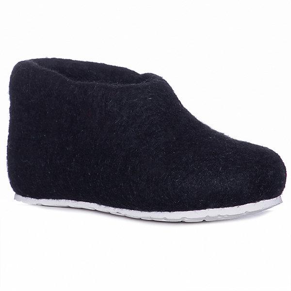Тапочки SnegiТапочки<br>Характеристики товара:<br><br>• цвет: черный;<br>• материал: шерсть;<br>• сезон: круглый год;<br>• подошва не скользит;<br>• анатомические;<br>• страна бренда: Россия.<br><br>Эти детские тапочки от бренда SNEGI - удобная обувь, которую можно носить дома в любое время года. Тапочки для ребенка сделаны из натуральной валяной шерсти - она безопасна для детей, долго служит, отлично адаптируется под ногу владельца чтобы повысить комфорт при ношении. Валяные тапочки для детей удобно сидят, не давят и не натирают. Такие шерстяные детские тапочки незаменимы в холодное время года - они согреют ноги и создать для них комфортный микроклимат даже в теплую погоду. Тапочки из натуральной шерсти отличаются свободной посадкой, они отлично подходят для широкой стопы, но если вам нравится плотная посадка, лучше заказать размер на 1 меньше, чем приобретается для уличной обуви.