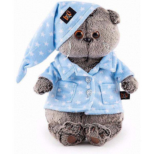 Budi Basa Мягкая игрушка Budi Basa Кот Басик в голубой пижаме, 22 см мягкая игрушка басик в пижаме 30 см