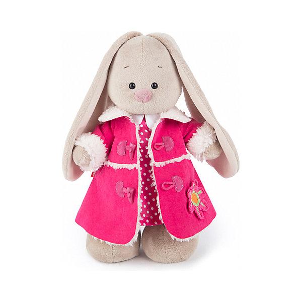 Budi Basa Мягкая игрушка Budi Basa Зайка Ми в платье и розовой дубленке, 25 см budi basa мягкая игрушка budi basa зайка ми в кофейном платье и цветком на ушке 32 см