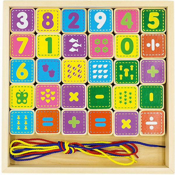 Alatoys Шнуровка Alatoys Цифры, 30 кубиков конструктор развивающий alatoys шнуровка цифры