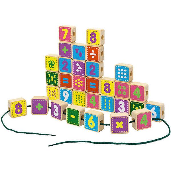 Alatoys Шнуровка Alatoys Цифры, 50 кубиков конструктор развивающий alatoys шнуровка цифры