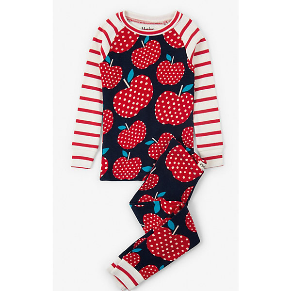Пижама HatleyПижамы и сорочки<br>Характеристики товара:<br><br><br>• комплект: лонгслив, брюки;<br>• состав ткани: 100% хлопок;<br>• трикотаж;<br>• сезон: круглый год;<br>• длинные рукава;<br>• талия: резинка;<br>• страна бренда: Канада.<br><br>Пижама для ребенка может быть и красивой и удобной! Эта детская пижама состоит из лонгслива и брюк. И лонгслив и брюки для ребенка дополнены мягкими манжетами - так обеспечивается комфортная и надежная посадка изделий. Эта детская пижама сделана из дышащего и гипоаллергенного хлопкового материала, простого в уходе. Детская одежда от канадского бренда Hatley - это гарантия высокого качества изделий.