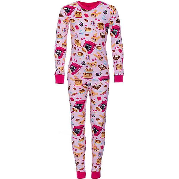 Пижама Hatley для девочкиПижамы и сорочки<br>Характеристики товара:<br><br>• цвет: розовый;<br>• комплектация: лонгслив, брюки;<br>• состав ткани: 100% хлопок;<br>• трикотаж;<br>• сезон: круглый год;<br>• длинные рукава;<br>• талия: резинка;<br>• страна бренда: Канада.<br><br>Пижама для ребенка обеспечивает комфорт на протяжении всей ночи. Такая детская пижама - это футболка с длинным рукавом и брюки. Хлопковая пижама для детей сделана из натурального материала, который помогает создать комфортный для тела микроклимат - он не вызывает аллергии и отводит лишнюю влагу от тела. Эта модель создана дизайнерами известного канадского бренда Hatley, известного высоким качеством изделий и их стильным дизайном.