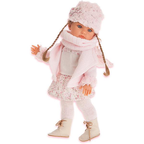 Купить Кукла Juan Antonio Munecas Белла с шарфиком, 45 см, Munecas Antonio Juan, Испания, розовый, Женский