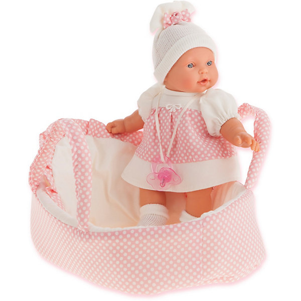 Munecas Antonio Juan Кукла Juan Antonio Munecas Лана в корзине, плачущая, 27 см кукла лана брюнетка juan antonio 27 см 1112br