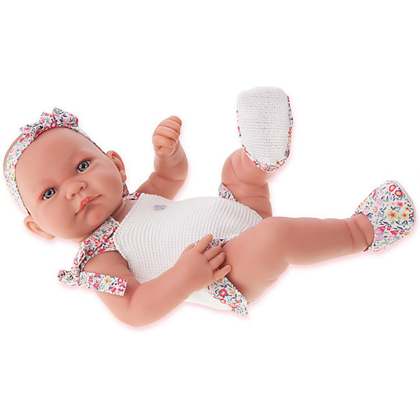 Купить Кукла-младенец Juan Antonio Munecas Ника в белом, 42 см, Munecas Antonio Juan, Испания, белый, Женский