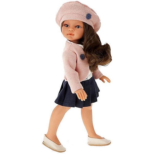 Купить Кукла Juan Antonio Munecas Эльвира в берете, брюнетка, 33 см, Munecas Antonio Juan, Испания, розовый, Женский