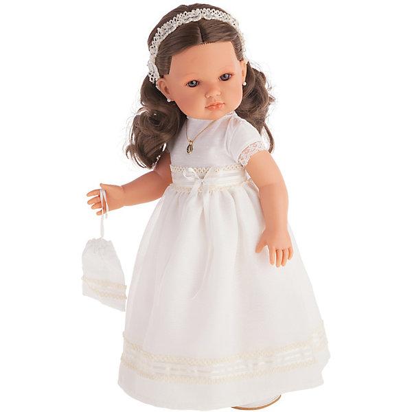 Купить Кукла Juan Antonio Munecas Белла Первое причастие, брюнетка в кремовом платье, 45 см, Munecas Antonio Juan, Испания, белый, Женский