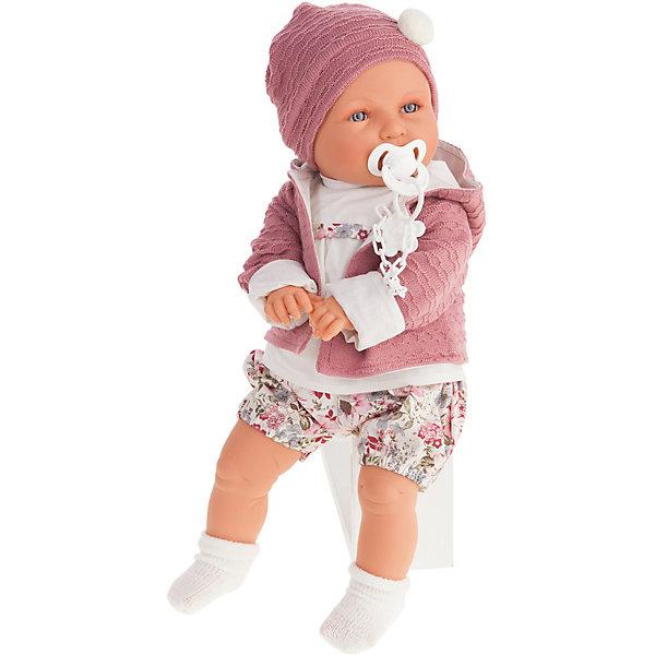 Купить Кукла Juan Antonio Munecas Элисеа плач., 55 см, Munecas Antonio Juan, Испания, розовый/белый, Женский
