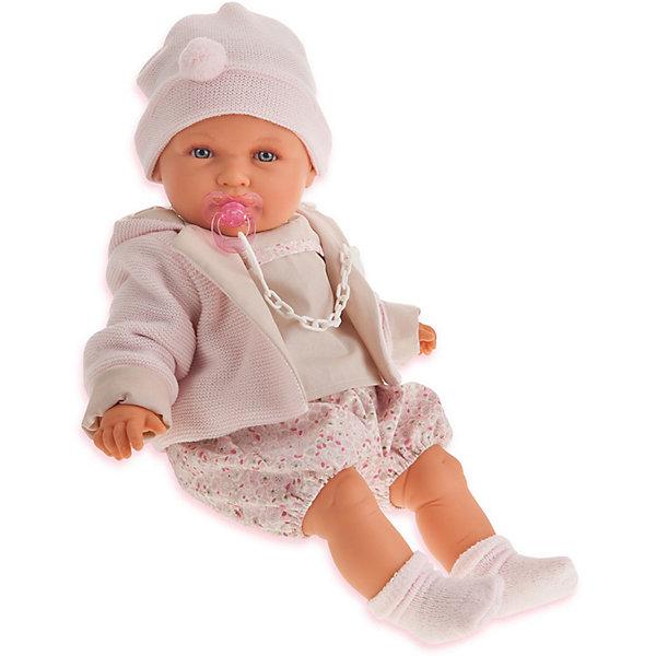 Купить Кукла Juan Antonio Munecas Роза в бежевом, плачущая, 55 см, Munecas Antonio Juan, Испания, бежевый, Женский