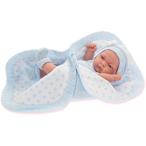 Купить Кукла-младенец Juan Antonio Munecas Карл в голубом, 26 см, Munecas Antonio Juan, Испания, голубой, Женский