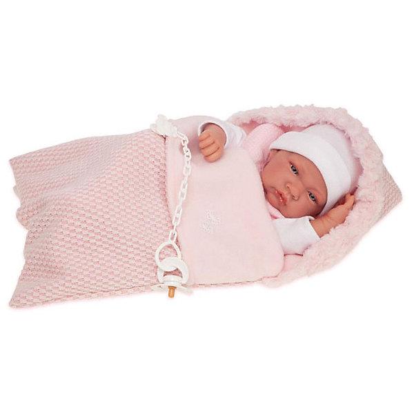 Купить Кукла-младенец Juan Antonio Munecas Вероника, 42 см, Munecas Antonio Juan, Испания, розовый, Женский