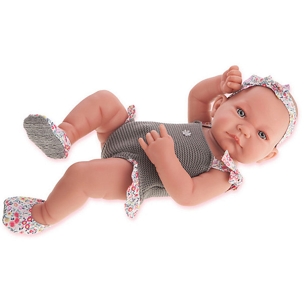 купить Munecas Antonio Juan Кукла-младенец Juan Antonio Munecas Ника в сером, 42 см онлайн