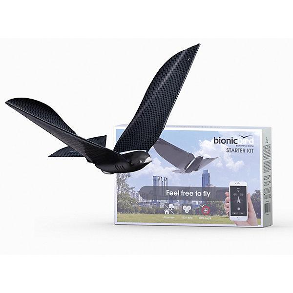 Робоптица BionicBird Starter KitИнтерактивные животные<br>Разработчики Bionic Bird не стали изобретать велосипед в части воздухоплавания, напротив, пошли по пути матери-природы, переняв ее лучшие достижения в аэродинамике. И создали бионического робота, который выглядит и ведет себя, как живая птица.<br><br>Когда Bionic Bird находится в воздухе, не только люди, даже настоящие птицы принимают его за своего. Поэтому сами разработчики называют устройство «единственным незаметным гражданским дроном».<br><br>Птицу можно заряжать через USB кабель (в комплекте).<br>В отличии от модели Bionic Bird Deluxe pack тут нет яйца - зарядки, только usb кабель.<br><br>? Сверхлегкий вес: 9,3 г<br>? Мощный главный мотор (1,2 Вт) с алюминиевым теплоотводом<br>? Электронная защита от перегрева<br>? Сверхкомпактный и легкий (0,3 г) редуктор 1:36 (патентованный)<br>? Высокоточное регулирование мощности (128 ступеней)<br>? Регулируемый угол хвоста для быстрых и медленных полетов (в помещении и на открытом воздухе)<br>? Точное и мгновенное управление поворотами путем деформации крыла для фигур пилотажа<br>(запатентовано)<br>? Высокая способность к планированию благодаря очень низкому отношению веса к площади крыла (3,42<br>г/дм2)<br>? Встроенный гибридный литий-полимерный аккумулятор, 55 мА·ч (1,6 г)<br>? Полная защита от короткого замыкания, перегрузки и полного разряда обеспечивает более длительный срок службы аккумулятора<br>? Время полета на полной скорости: до 6 минут; нормальный полет – максимум 7,5 минут или 1,8 км