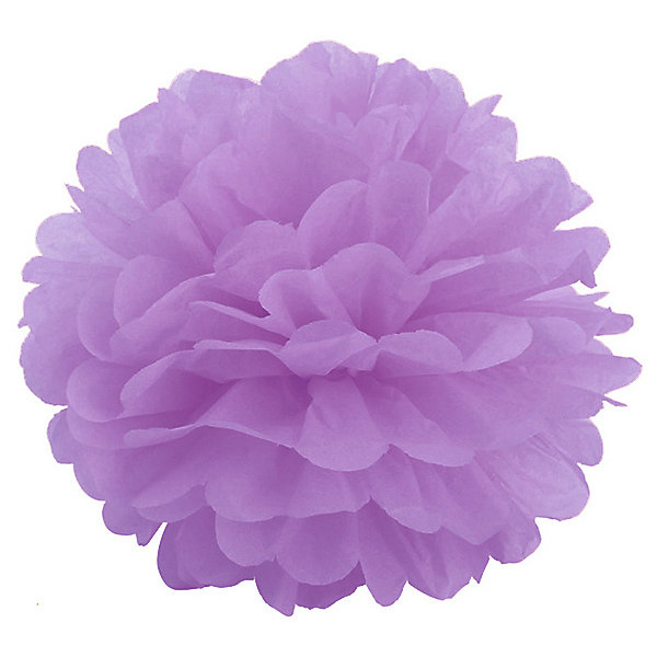 цена Патибум Помпон бумажный Патибум 40 см, лиловый