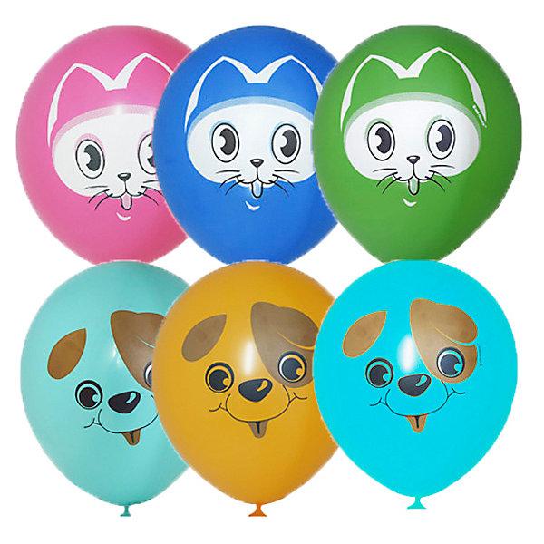 Latex Occidental Воздушные шары Кот и Пес 25 шт, пастель + декоратор