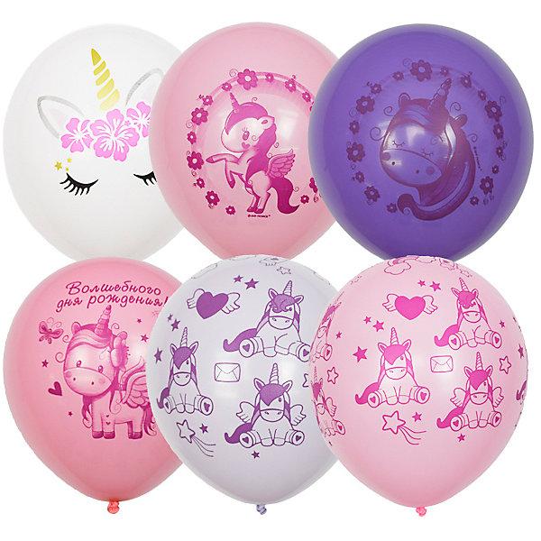 Купить Воздушные шары Latex Occidental Единорог День Рождения 25 шт, пастель + декоратор, Мексика, разноцветный, Женский