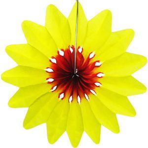 """Патибум Бумажное украшение Патибум """"Цветок"""" 50 см, жёлтый"""